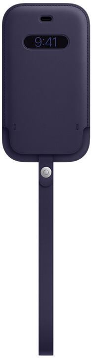 Apple kožený návlek s MagSafe pro iPhone 12 mini, tmavě fialová