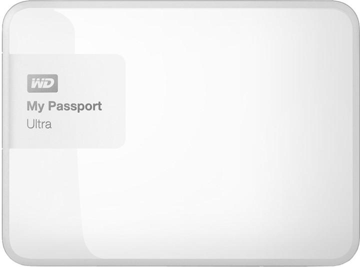WD My Passport ULTRA - 4TB, bílá