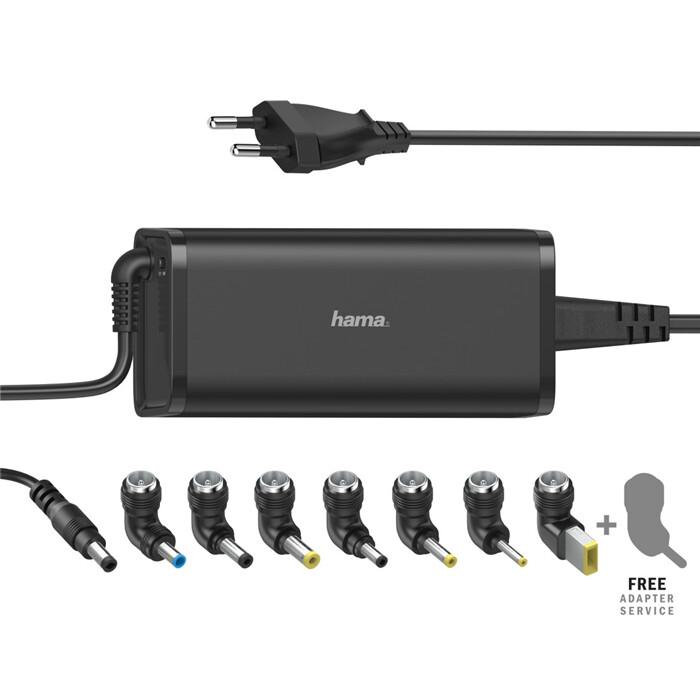 Hama napájecí adaptér pro notebook, univerzální, 15/19V/5.6A, 90W, černá