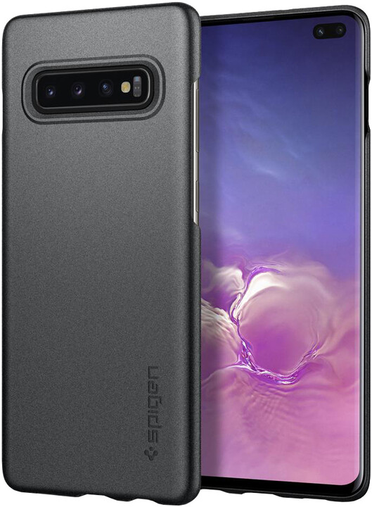 Spigen Thin Fit Galaxy S10+, šedá
