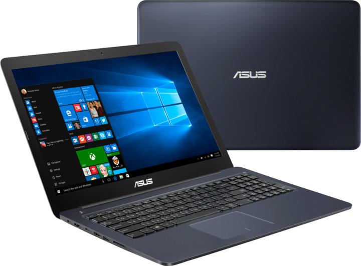 ASUS VivoBook E502NA, modrá