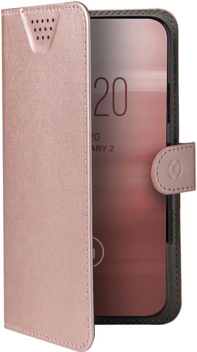 """CELLY Wally One univerzální flipové pouzdro velikost XXL pro 5.0""""-5.5"""" (7x14.8cm), růžová"""