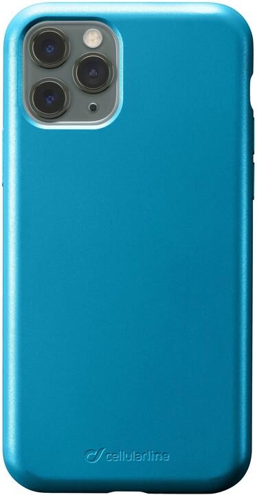 Cellularline ochranný silikonový kryt Sensation Metallic pro Apple iPhone 11 Pro, tyrkysová