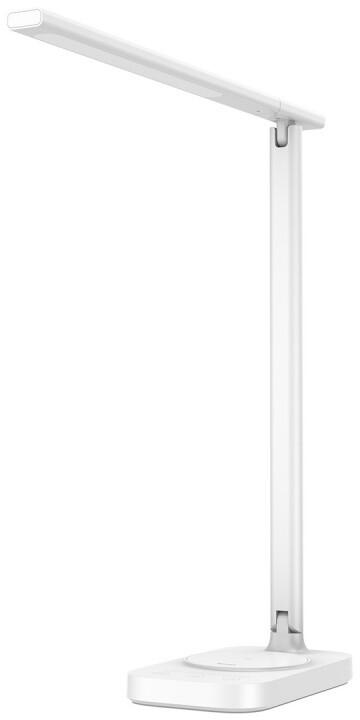 Baseus stolní lampa s bezdrátovou nabíječkou mobilních zařízení, bílá