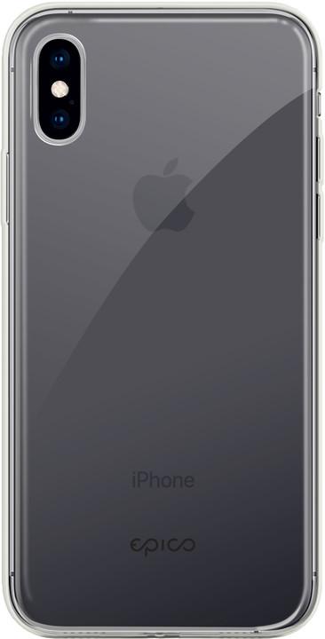 EPICO twiggy gloss ultratenký plastový kryt pro iPhone XS Max, bílý transparentní