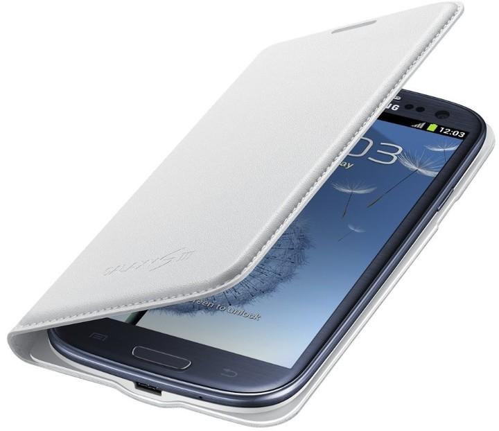 Samsung flipové pozdro s kapsou EF-NI930BWE pro Galaxy S III (i9300) bílá