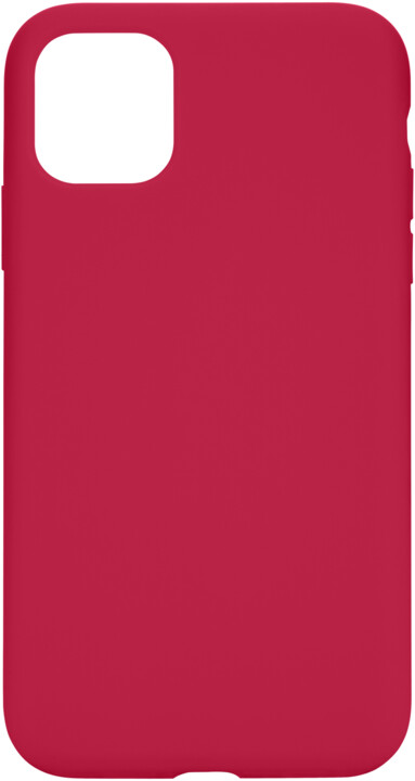 Tactical silikonový kryt Velvet Smoothie pro Apple iPhone 11, červená