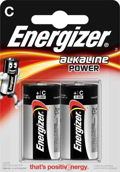 Energizer baterie LR14/2 Power Alkaline C, 2ks