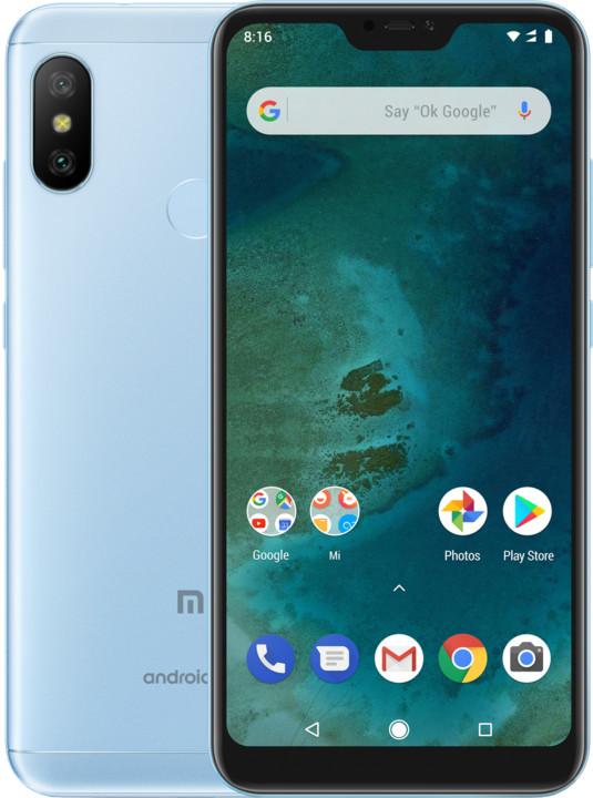 Xiaomi Mi A2 Lite, 3GB/32GB, modrá