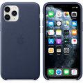 Apple kožený kryt na iPhone 11 Pro, půlnočně modrá