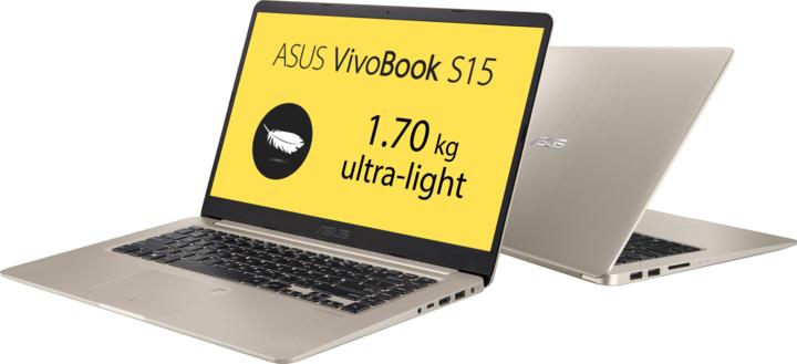 ASUS VivoBook S15 S510UA, zlatá