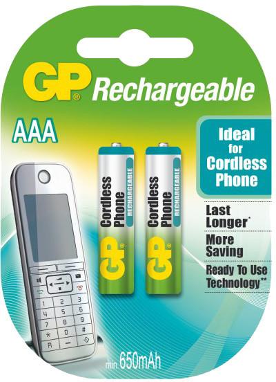 GP Rechargeable, nabíjecí 650 NiMH do DECT telefonů, 2ks