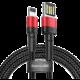 BASEUS kabel Cafule, USB-A - Lightning, M/M, nabíjecí, datový, 2.4A, 1m, červená/černá