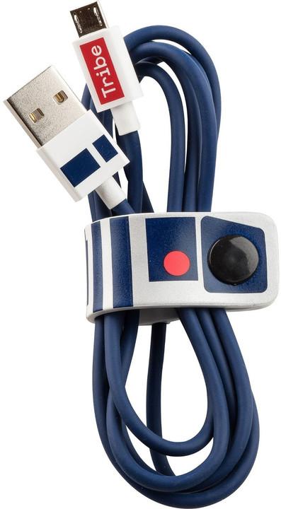 Tribe Star Wars R2D2 Micro USB kabel (120cm) - Modrý