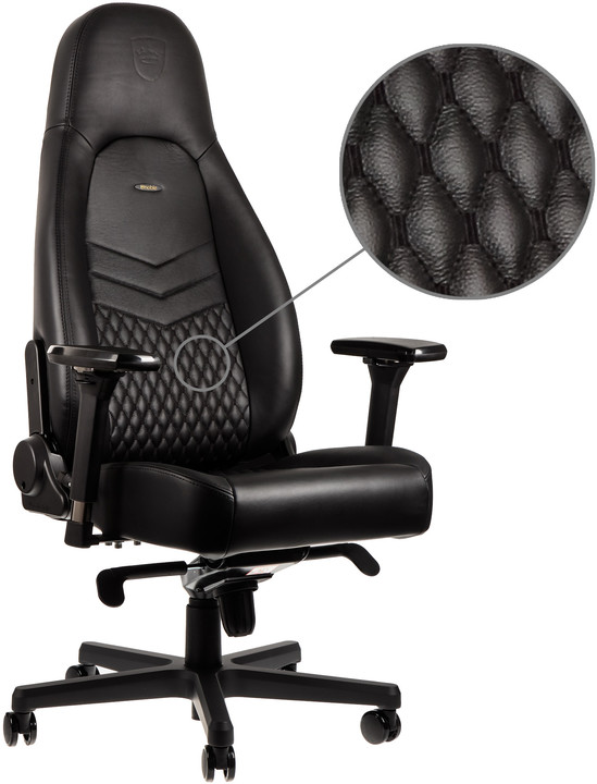Noblechairs ICON Real Leather, černá