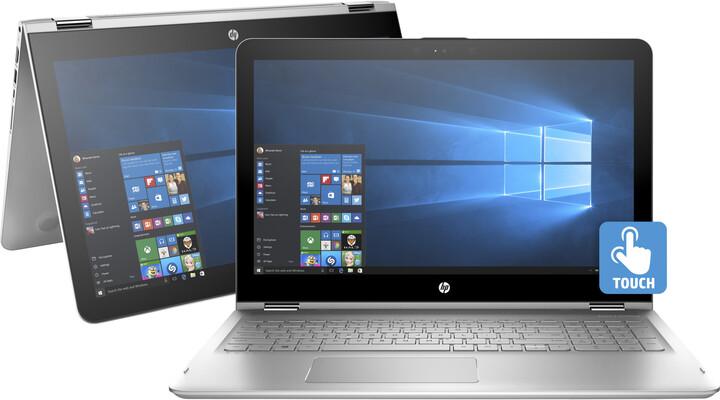 HP Envy x360 15 (15-aq101nc), stříbrná