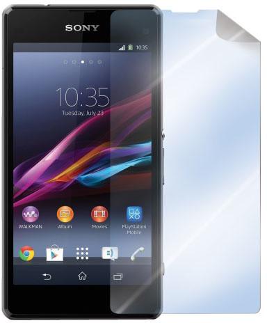 CELLY ochranná fólie displeje pro Sony Xperia Xperia Z1 Compact, lesklá, 2ks