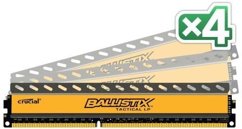 Crucial Ballistix Tactical 16GB (4x4GB) DDR3 1600 LP
