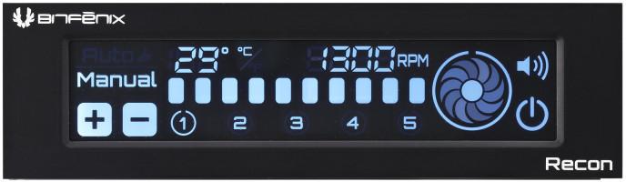 """BITFENIX Recon, reguátor otáček ventilátorů, 5,25"""" pozice"""