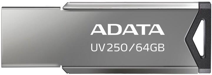 ADATA UV250 - 64GB, stříbrná