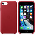 Apple kožený kryt na iPhone SE (2020), červená