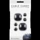 Cable Candy kabelový organizér Mixed Beans, 6 ks, černá