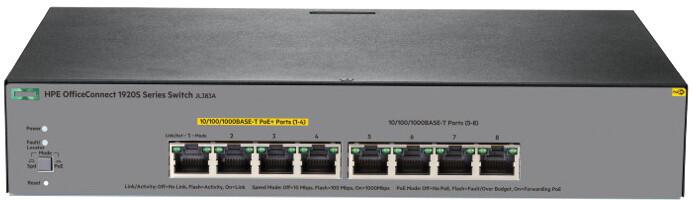 HP 1920S 8G PPoE+ 65W