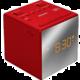 Sony ICF-C1T, červená