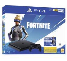 PlayStation 4 Slim, 500GB, černá + Fortnite (2000 V-Bucks) - PS719940104