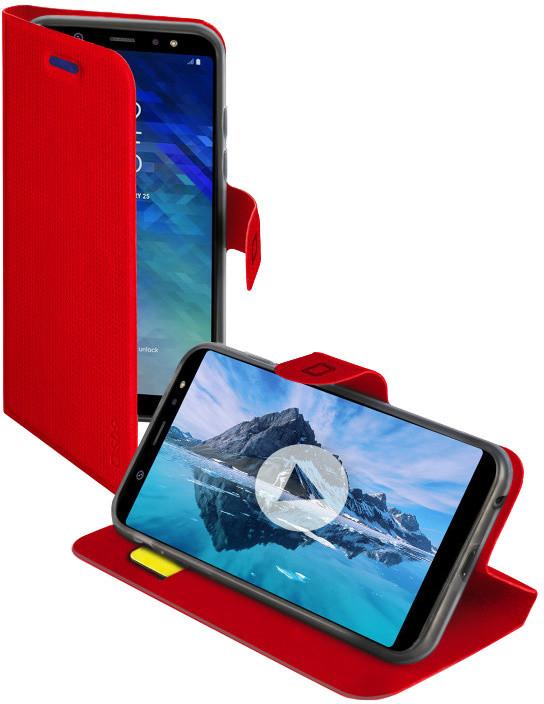 SBS Pouzdro Book Sense pro Samsung Galaxy A6, červená