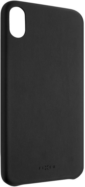 FIXED zadní kryt Tale pro Apple iPhone XS Max, PU kůže, černá