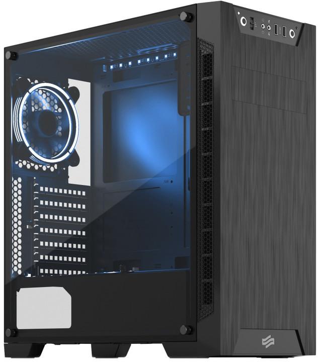 SilentiumPC Armis AR3 TG-RGB Pure, okno, černá
