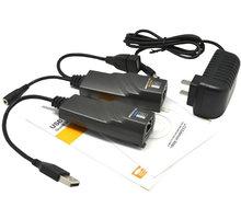 KABEL PremiumCord USB 2.0 extender po Cat5/Cat5e/Cat6 do 50m - kuext2