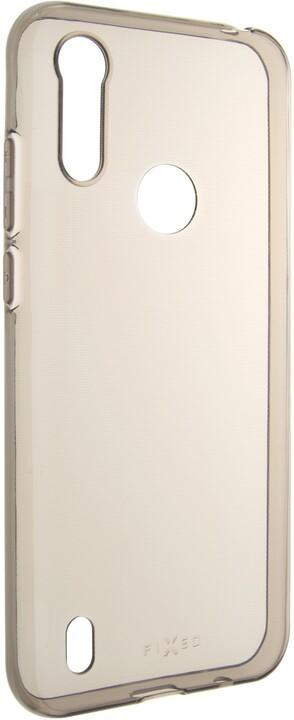 FIXED TPU gelové pouzdro Slim pro Motorola Moto E6s (2020), 0.6 mm, kouřová