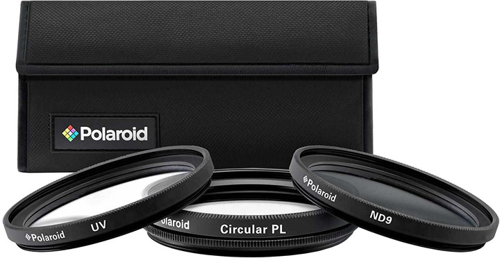Polaroid Filter Kit 52mm MC UV, CPL, ND9