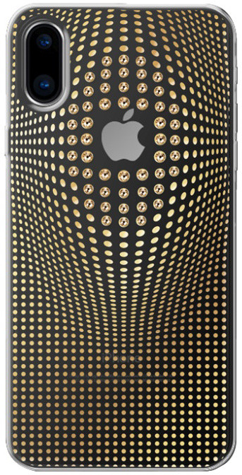 Bling My Thing Warp Deluxe Gold zadní kryt pro Apple iPhone X, krystaly Swarovski®