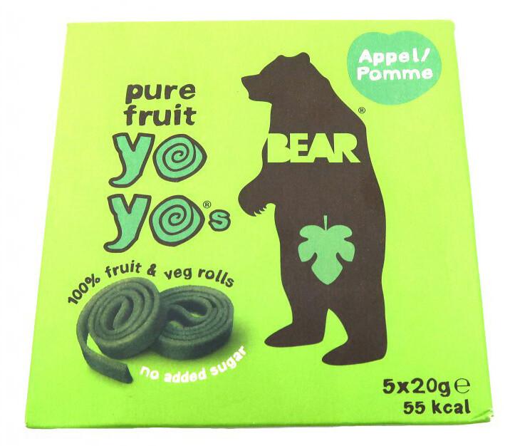 YOYO BEAR Ovocné Rolky Jablko, 5x20 g