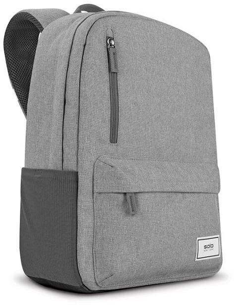 """SOLO NEW YORK batoh Re:Cover pro notebook 15.6"""", světle šedá"""