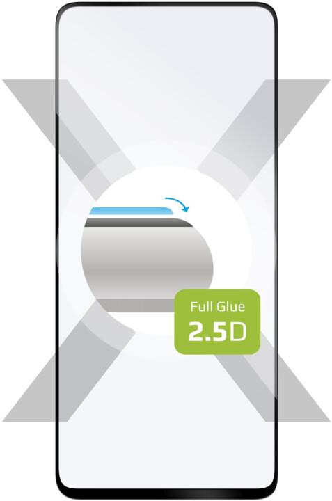 FIXED ochranné tvrzené sklo Full-Cover pro Realme 6s, lepení přes celý displej, 2.5D, černá