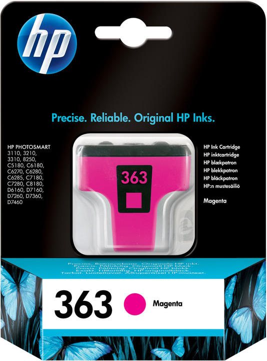 HP C8772EE, no.363, purpurová