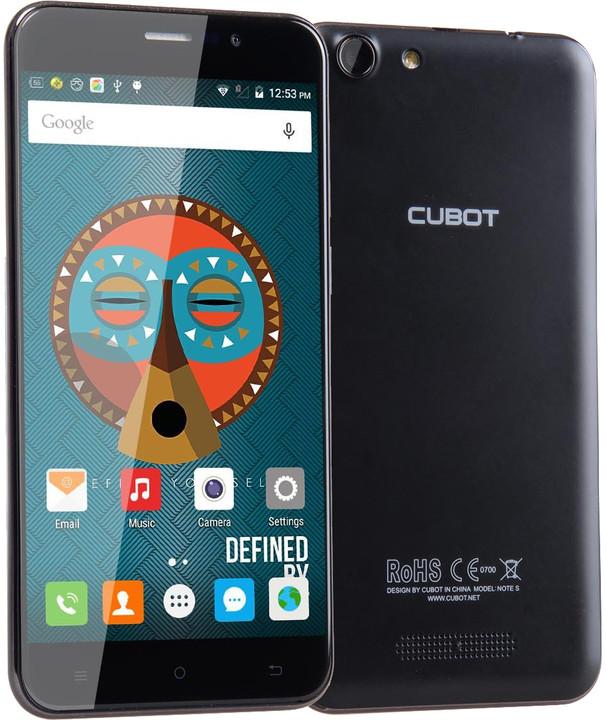 CUBOT Note S - 16GB, černá