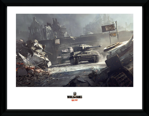 Zarámovaný plakát World of Tanks - German Tank