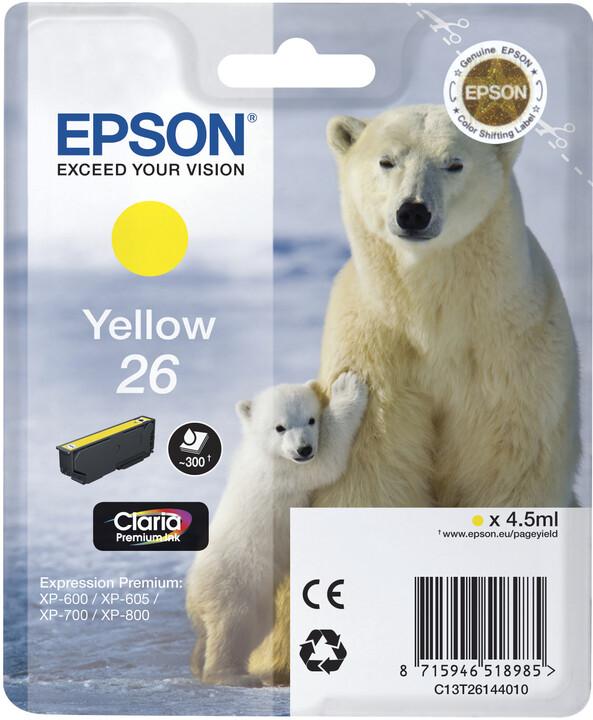 Epson C13T26144010, žlutá