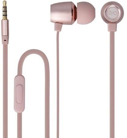 Forever MSE-100 přenosná stereo sluchátka (TFO-N) 3,5mm Jack s mikrofónem, růžově zlatá