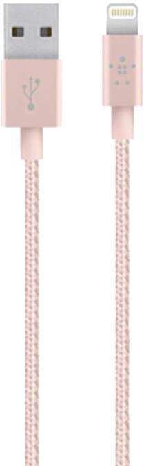 Belkin Synchronizační Premium Lightning kabel 1,2m, růžová