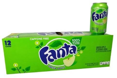 Fanta Green Apple, limonáda, jablko, 355 ml, 12ks