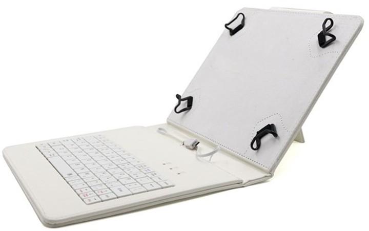 """C-TECH PROTECT NUTKC-02, pouzdro s klávesnicí pro 8"""", bílá"""