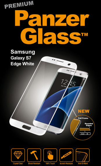 PanzerGlass Premium pro Samsung Galaxy S7 Edge, bílé
