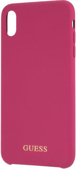 GUESS Silicone Gold Logo pouzdro pro iPhone XS Max, růžová