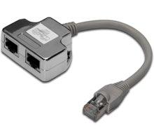 PremiumCord modulární RJ45 distributor 2 porty 10/100Base T